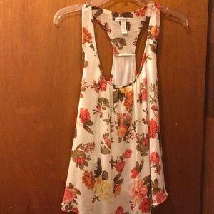 Beautiful floral sleeveless top